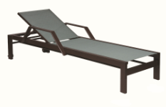 "Valrico 18"" Seat Chaise Lounge with Arms and Wheels"