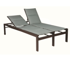 "Valrico Armless 18"" Seat Double Chaise Lounge with Wheels"