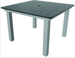"Marine Grade Polymer 42"" Square Dining Table"