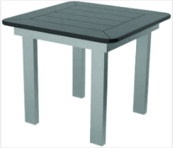 "Marine Grade Polymer 23"" Square End Table"