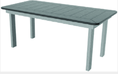 "Marine Grade Polymer 23""x40"" Rectangle Coffee Table"