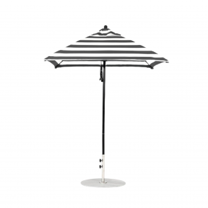 454-FM-BK-BKSA Square 6.5' Pulley Lift Umbrella