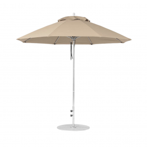 7.5' Square Market Umbrella With Pulley Lift