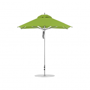 6.5' Square Market Umbrella with Pulley Lift