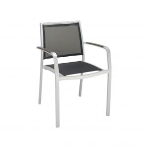 AL-5724A Arm Chair W/ Faux Teak Arms