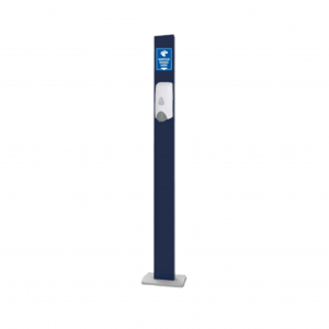 Hand Sanitizer Station Double-Sided Post Mount