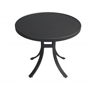 "48"" Round Plankwood Aluminum Dining Table"